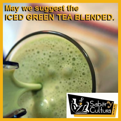iced green tea blended
