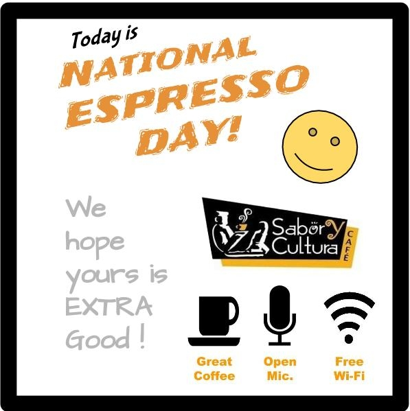 National Espresso Day with extras