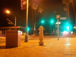 This shot is facing mostly south, and was taken at about 10:pm from the north east corner of S. Palm Canyon & Baristo, Palm Springs, California, 2011