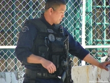 L.A. Metro Police provide security for the 2012 Oscar Ceremony.