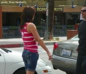 Girl smoking a cigarette. Palm Springs, 2010.