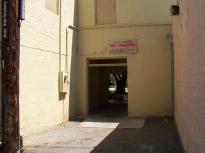 Back alley entrance.